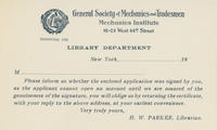 GSMT Library Account Verification Card