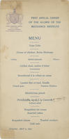 AAMI First Annual Dinner Menu, 1904