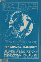 "AAMI Annual Dinner ""Blueprint"" Announcement, 1920"