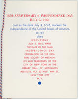 GSMT Independence Day Program, 1961