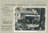 Art Exhibition Brochure for Mechanics' Institute Student Edward Gustave Jacobsson