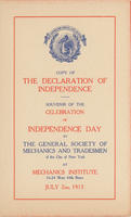 GSMT Independence Day Program, 1913