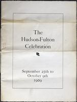 Hudson-Fulton Celebration Program, 1909
