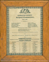 Apprentices School Committee, 1826