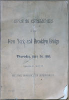 Souvenir Program for Brooklyn Bridge Opening Ceremony