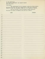 Blank Petition Sheet to Remove the Sixth Avenue Elevated Railroad