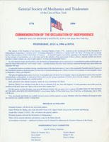 GSMT Independence Day Celebration Broadside, 1994