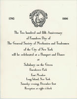 Founders Day Banquet and Dance Invitation, 1990