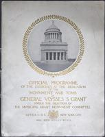 Dedication of Grant's Tomb Program