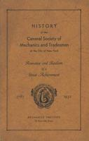 History of the General Society of Mechanics and Tradesmen of the City of New York