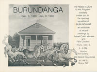 Burundanga Exhibition Invitation