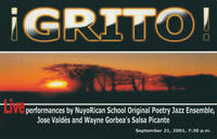 Grito! A night of Jazz and Salsa Event Postcard