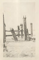 Construction of Pier, circa 1934, snow and ice