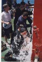 Group of students, STCW exercise