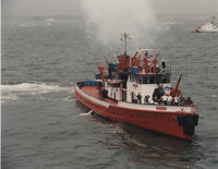 Fireboat and Coast Guard Cutter
