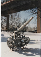 Disappearing gun, snow