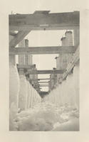 Construction of Pier, Circa 1930 - Ice coated pier piles