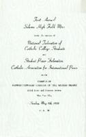 National Federation of Catholic College Students First Annual Solemn High Field Mass Program, 1938
