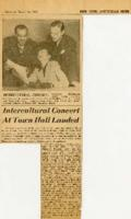 "Interracial Justice Week 1946, Amsterdam News, ""Intercultural Concert At Town Hall Lauded"""