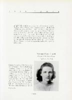 Winifred Byles, Class of 1939, yearbook page