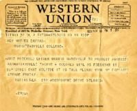 Telegram of Protest, May 10, 1938