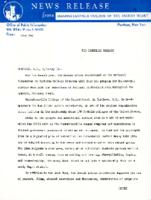 Interracial Justice Week 1962, Press Release