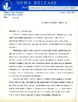Interracial Justice Week 1964, Press Release