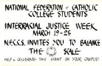 Interracial Justice Week 1961, Poster