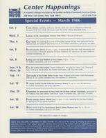 Center Happenings, March 1986