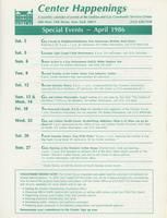 Center Happenings, April 1986