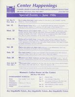 Center Happenings, June 1986