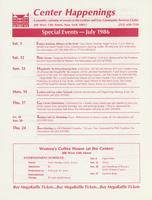 Center Happenings, July 1986