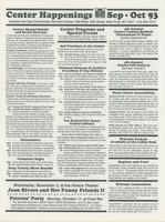 Center Happenings, September-October 1993