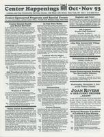 Center Happenings, October-November 1993