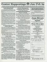 Center Happenings, January-February 1994