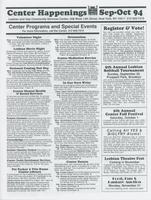 Center Happenings, September-October 1994