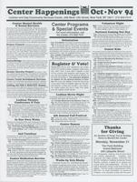 Center Happenings, October-November 1994