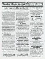 Center Happenings, November-December 1994