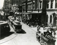 Street cars, Grand Central Depot, East 42nd Street and Park Avenue North, 1890.
