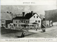 The Oldest House Foot of Murray Hill, 1865.