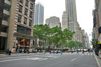Fifth Avenue looking north from 40th Street, 2008.