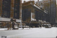 View of Grand Central Terminal from Park Avenue, 1976.