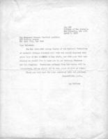 Letter inviting Cardinal Spellman to be Honorary Chairman of the 1948 conference