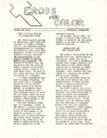 Cross and Color Volume II, No. 3 February - March, '54