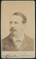 Carte de Visite, Austin Flint, with goatee beard