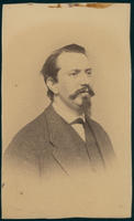 Carte de Visite, Austin Flint, facing right with goatee beard