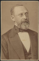 Carte de Visite, Rudolf Ludwig Karl Virchow, with spectacles facing right