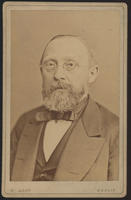Carte de Visite, Rudolf Ludwig Karl Virchow, with spectacles facing front