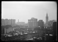 View looking east from 5 West 31st Street, showing the Stratford House, Madison Square Garden, the Park Avenue Hotel (left) and Le Marquis Apartment Hotel (right), New York City, 1905.