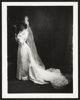Unidentified woman in wedding gown, undated [circa 1900-1910].